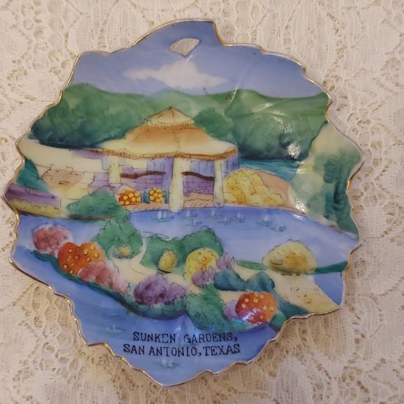 Vintage Souvenir Mini Plate Antonio Sunken Gardens
